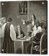 King James II Of England Facing Bishops Acrylic Print