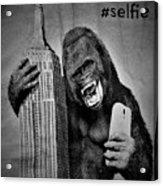 King Kong Selfie B W  Acrylic Print
