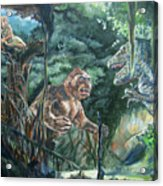 King Kong Vs T-rex Acrylic Print