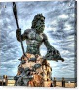 King Neptune Virginia Beach  Acrylic Print