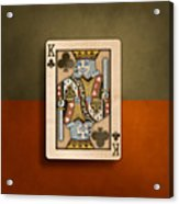 King Of Clubs In Wood Acrylic Print