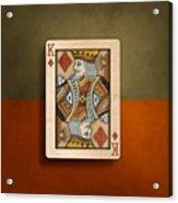King Of Diamonds In Wood Acrylic Print