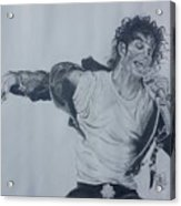 King Of Pop Acrylic Print