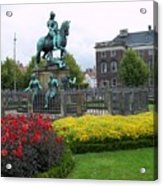 Kings Square Statue Of Christian 5th Acrylic Print