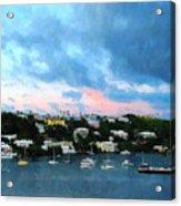 King's Wharf Bermuda Harbor Sunrise Acrylic Print