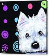 Kiniart Disco Westie Acrylic Print