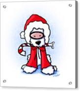 Kiniart Snorkel Westie Santa Acrylic Print