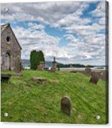 Kinross Cemetery On Loch Leven Acrylic Print