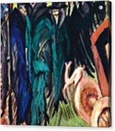 Kirchner: Street Scene Acrylic Print