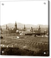 Kirkbride At Napa State Hospital In California Circa 1890 Acrylic Print