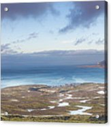 Kirkjufell And Grundarfjordur From On High Acrylic Print