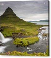 Kirkjufellsfoss On Snaefellsnes Peninsula Iceland Acrylic Print