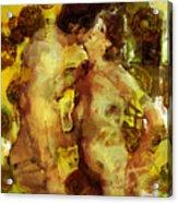 Kiss Me Acrylic Print by Kurt Van Wagner