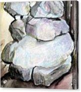 Kissing Rocks Acrylic Print by Jane Clatworthy