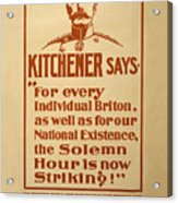 Kitchener Redux - Vote Acrylic Print