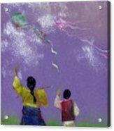 Kite Flying Acrylic Print by Mui-Joo Wee