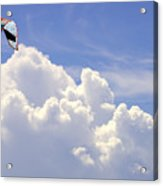Kite In The Clouds Obx Buxton North Carolina Acrylic Print