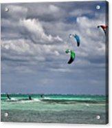 Kite Sufers Three Acrylic Print