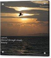 Kite Sunset - Haiku Acrylic Print