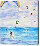 Kite Surfer Acrylic Print