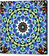 Kite Tiles Mandala Acrylic Print