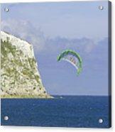 Kitesurfer At Yaverland Acrylic Print