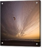 Kiting In The Moonlight Acrylic Print