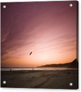Kiting In The Sunset Acrylic Print