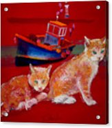 Kittens On The Beach Acrylic Print