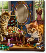 Kittens With Jewelry Box Acrylic Print