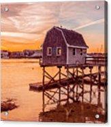 Kittery Maine Harbor Sunset Acrylic Print