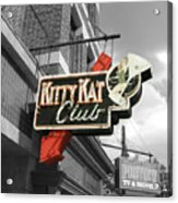 Kitty Kat Club Acrylic Print