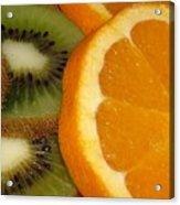 Kiwi And Orange Acrylic Print