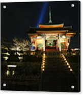 Kiyomizu-dera At Night Acrylic Print