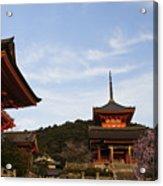 Kiyomizu-dera In Bloom Acrylic Print
