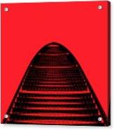 Kk100 Shenzhen Skyscraper Art Red Acrylic Print