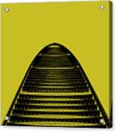 Kk100 Shenzhen Skyscraper Art Yellow Acrylic Print
