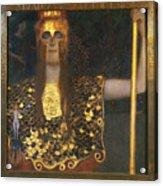 Klimt - Pallas Athena 1898 Acrylic Print