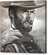 Klint Eastwood Acrylic Print