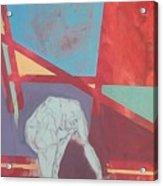 Kneeling Figure Acrylic Print