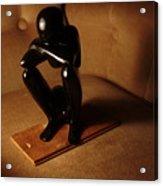 Kneeling Man Acrylic Print
