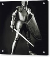 Knight Acrylic Print by Tony Cordoza