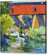Knights Ferry Bridge Acrylic Print