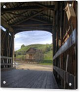 Knights Ferry Covered Bridge Acrylic Print