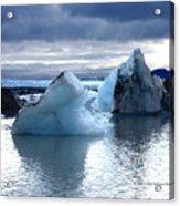 Knik Glacier Icebergs Acrylic Print