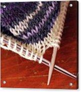 Knitting Acrylic Print