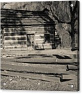 Knob Creek Cabin Acrylic Print by Mark Bowmer