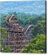 Knobels Wooden Roller Coaster  Acrylic Print