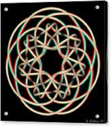 Knotplot 12 - Use Red-cyan 3d Glasses Acrylic Print