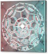 Knotplot 3 - Use Red-cyan 3d Glasses Acrylic Print